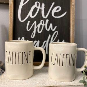 NWT Rae Dunn CAFFEINE Mug Set